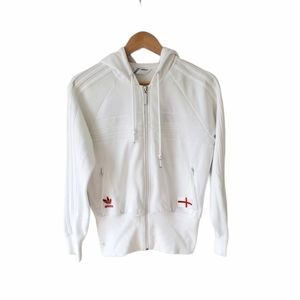 ADIDAS England Soccer Hooded Zip Up Size M